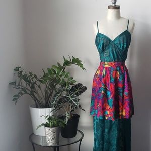 Vintage Danielle B. Multi Color circle Mini Skirt